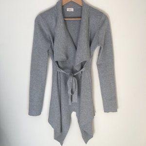 Tea n Cup Collar Tie Waist Wrap Sweater Cardigan